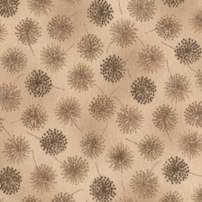 Stof Aya & Saori Brown on Brown Dandelion Print 4507-336