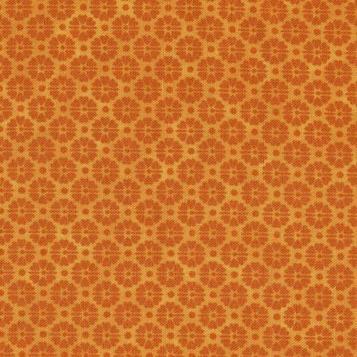 Stof Basics Orange Floral Tone on Tone 4517-205