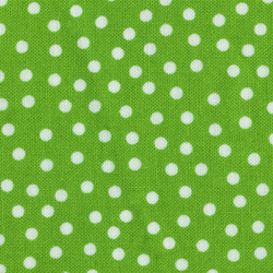 Stof Quilters Basics White Polkadot on Green 4517 809