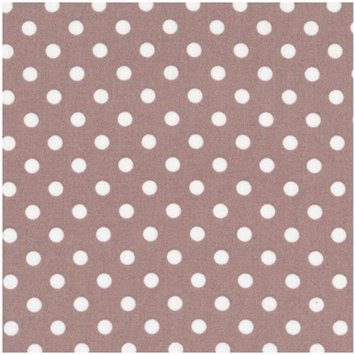 Stof Quilters Basics Brown with White Dots 4513-339