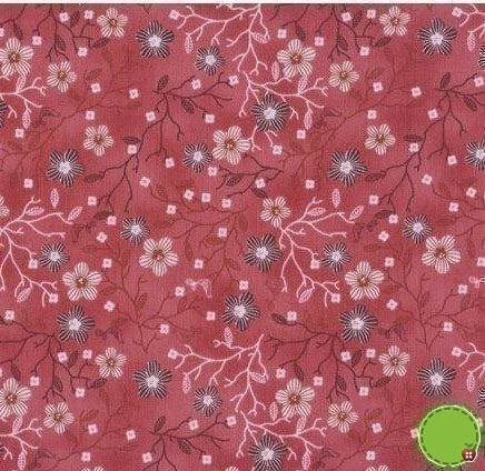 Stof Quilters Basic Red Oriental Flower 4518-510