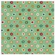 Stof Hyakka Ryoran Green with Multi-Coloured Floral 4526-562