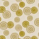 Stof Hyakka Ryoran Gold Swirling Circles on Cream/Ecru 4526-566