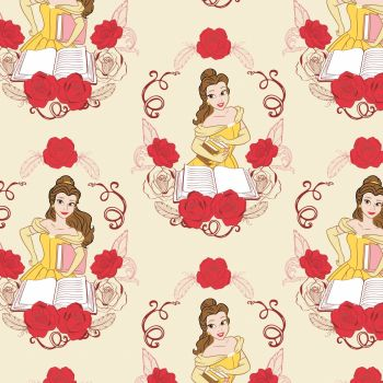 Disney Beauty & The Beast Belle & Book Pink