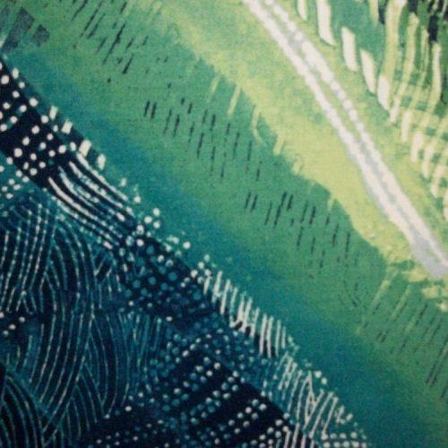Artisan Spirit Good Vibrations Tribal Print Blue/green