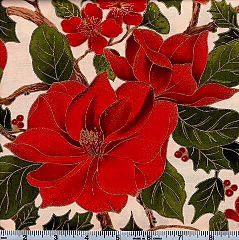 Moda Magnolia Metallic Floral 40-12