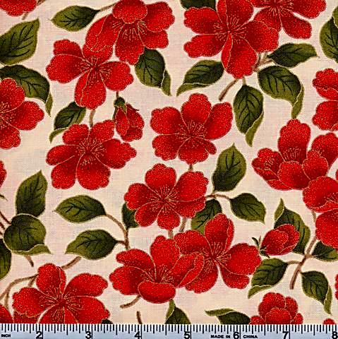 Moda Magnolia Metallic Floral 42-12