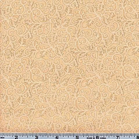Moda Magnolia Metallic Cream and Gold Swirl 46-11