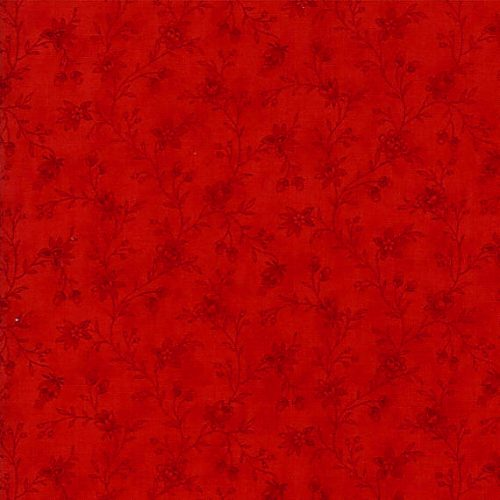 Moda Snowberry Red on Red Floral Print 43-17