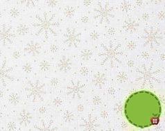 Moda Muslin Mates White on White Snowflakes 9929-11