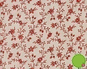 Moda Snowberry Cream with Red Floral Print 43-12