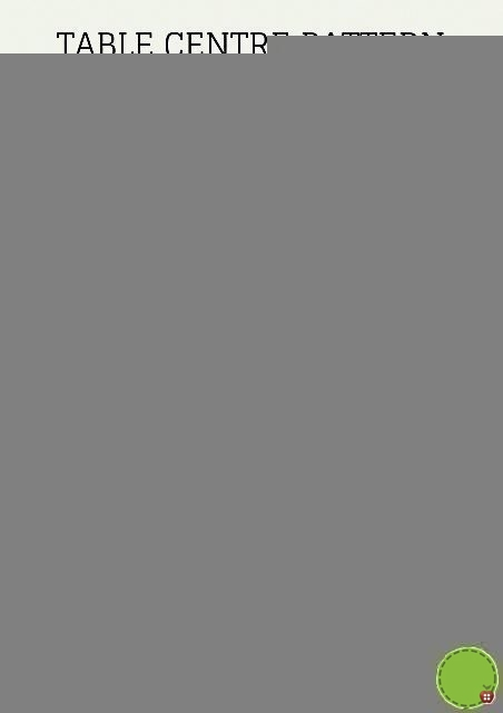 Poinsetta 3D Flower Pattern – Table Centre
